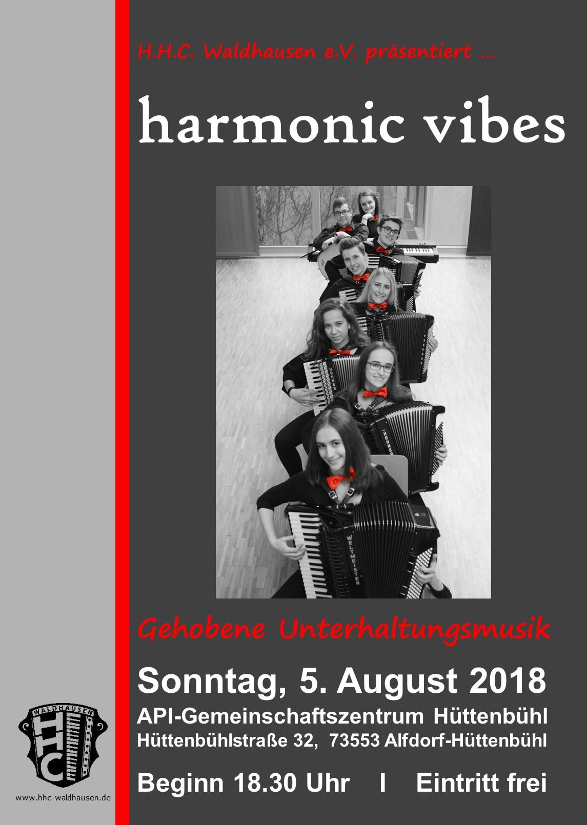 "Konzert mit dem Ensemble ""harmonic vibes"""