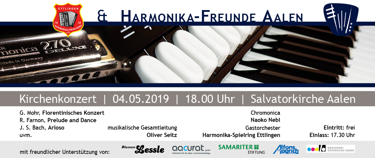 Kirchenkonzert der Harmonika-Freunde Aalen