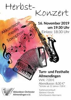 "Herbstkonzert \\\""Akkordeon meets Saxophon\\\"""