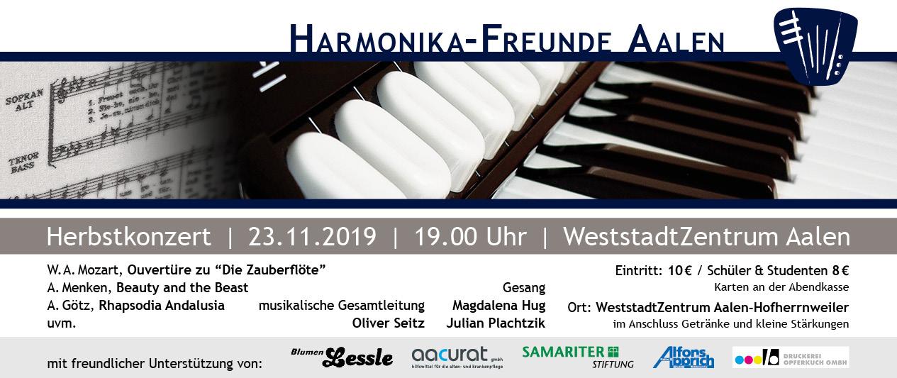 Herbstkonzert der Harmonika-Freunde Aalen
