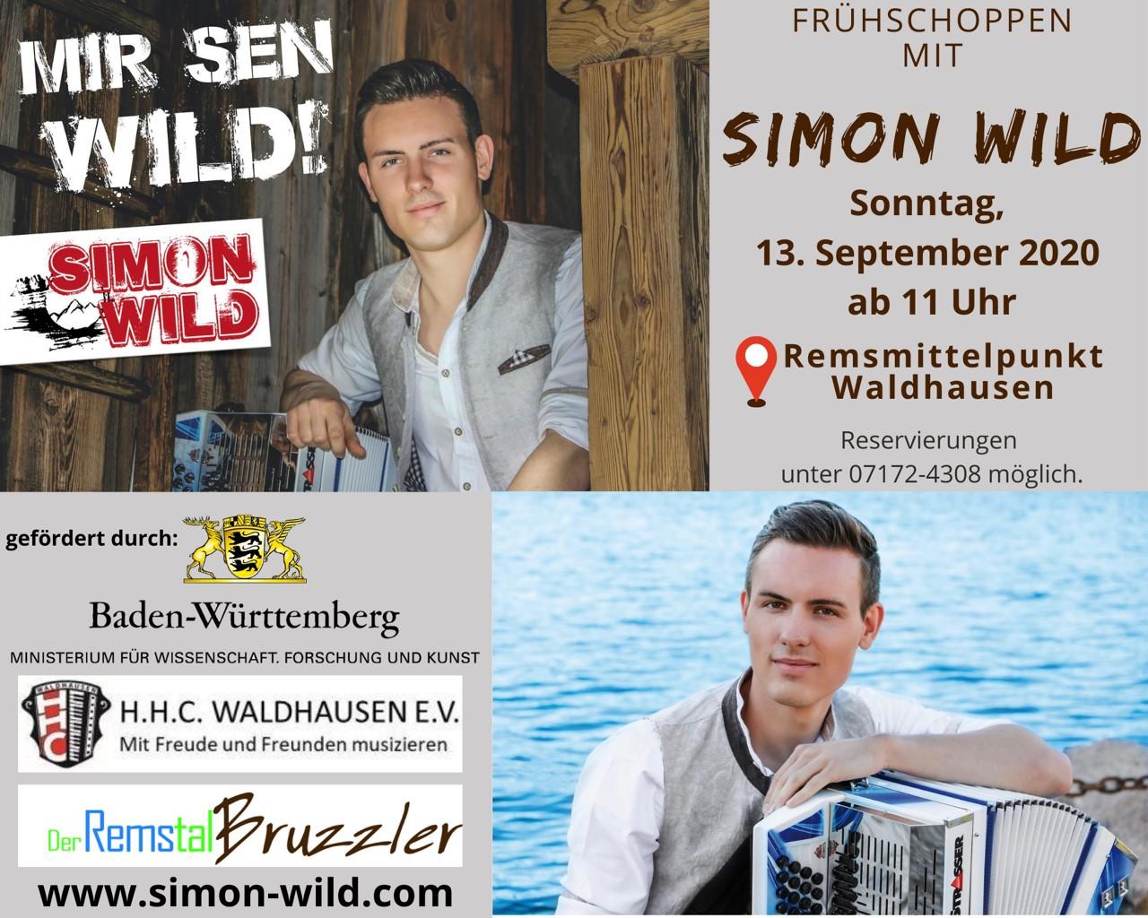 Waldhäuser Kultur-Sommer 2020: Frühschoppen mit Simon Wild